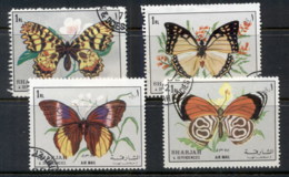 Sharjah 1972 Mi#1304-1307 Insects, Butterflies CTO - Sharjah