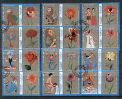 Sharjah 1972 Mi#1320-1331 Signs Of The Zodiac, Flowers CTO - Sharjah