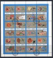 Sharjah 1972 Mi#1320-1331 Signs Of The Zodiac, Flowers Sheetlet CTO - Sharjah