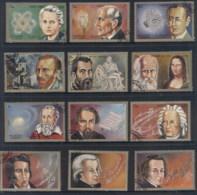Sharjah 1972 Mi#1374-85 Scientists, Artists, Composers CTO - Sharjah