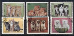Sharjah 1972 Mi#1386-1391 Kittens CTO - Sharjah