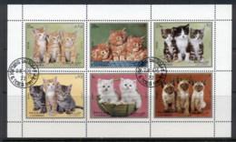 Sharjah 1972 Mi#1386-1391 Kittens Sheetlet CTO - Sharjah