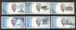 Sharjah 1972 Mi#875-880 Charles De Gaulle & Sights Of Paris CTO - Sharjah