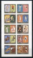 Sharjah 1972 Mi#942-951B Summer Olympics Munich IMPERF Sheetlet MUH - Sharjah