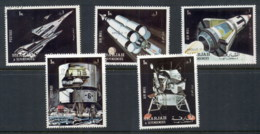Sharjah 1972 Mi#970-974 Apollo 11 Space Mission CTO - Sharjah