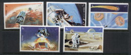 Sharjah 1972 Mi#982-986 Apollo 16 Space Mission MUH - Sharjah