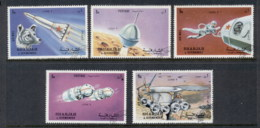 Sharjah 1972 Mi#994-998 Space, Luna 9 CTO - Sharjah