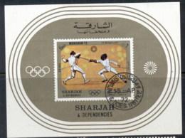 Sharjah 1972 Mi#MS108 Summer Olympics Munich MS CTO - Sharjah