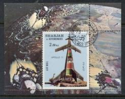Sharjah 1972 Mi#MS110A Apollo 11, Spaceship Model MS CTO - Sharjah