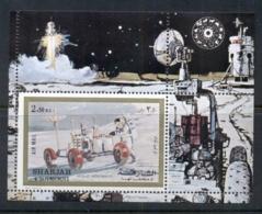 Sharjah 1972 Mi#MS111A Apollo 17, Moon Buggy MS CTO - Sharjah