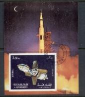 Sharjah 1972 Mi#MS112A Apollo 16 Lunar Module Undocking MS CTO - Sharjah