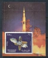 Sharjah 1972 Mi#MS112A Apollo 16 Space Mission MS CTO - Sharjah