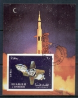 Sharjah 1972 Mi#MS112B Apollo 16 Space Mission MS IMPERF CTO - Sharjah