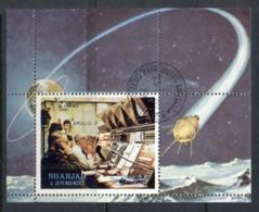 Sharjah 1972 Mi#MS113A Apollo 17 Space Mission MS CTO - Sharjah