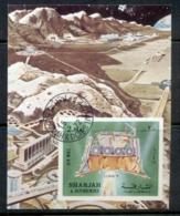 Sharjah 1972 Mi#MS114B Luna 9 Space Mission MS IMPERF CTO - Sharjah