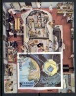 Sharjah 1972 Mi#MS115B Research MS IMPERF CTO - Sharjah