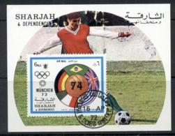 Sharjah 1972 Mi#MS122 Summer Olympics & World Cup Football MS CTO - Sharjah