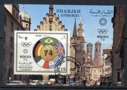 Sharjah 1972 Mi#MS148 Jules Rimet Cup MS CTO - Sharjah