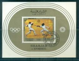 Sharjah 1972 Munich Olympics MS CTO Lot77274 - Sharjah