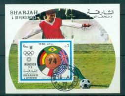 Sharjah 1972 Munich Olympics,Soccer  MS CTO Lot77250 - Sharjah