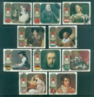 Sharjah 1972 Sapporo Olympic Medallists, Paintings CTO Lot77239 - Sharjah