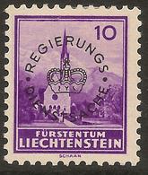 LIECHTENSTEIN 1934 10r Official SG O151 HM ##GI45 - Official