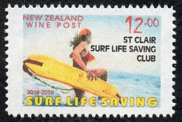 New Zealand Wine Post Surf Life Saving Overprint Single - Unclassified
