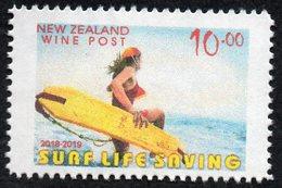 New Zealand Wine Post Surf Life Saving No Overprint Single (lower Value) - New Zealand