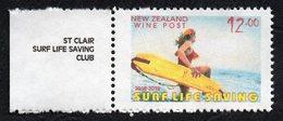 New Zealand Wine Post Surf Life Saving Overprint In Margin. - New Zealand