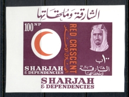 Sharjah 1963 Mi#MS2 Red Cross Centenary MS MUH - Sharjah
