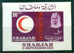 Sharjah 1963 Red Cross MS MLH - Sharjah