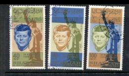 Sharjah 1964 Mi#107-109 JFK Kennedy 1st Death Anniversary CTO - Sharjah