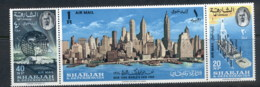 Sharjah 1964 Mi#87-89 New York World's Fair Srt3 MUH - Sharjah