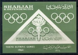 Sharjah 1964 Mi#MS10 Summer Olympics Tokyo MS MUH - Sharjah