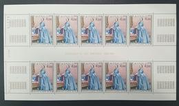 """Monaco """"Antoinette De Mérode"""" N° 1197  Neuf ** En Feuille De 10 Avec Coin Daté 19.7.79  TTB - Unused Stamps"""
