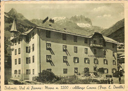 (C).Moena(TN).Albergo Corona.F.to Grande.Viaggiata (c17) - Hotels & Restaurants