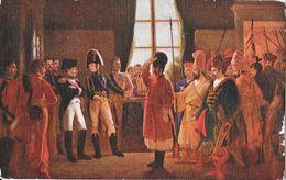 Tableau: Alexandre Présente à Napoléon Les Cosaque, Baskirs, Kalmoucks De L'Armée Russe 1807 - Carte Non Circulée - Histoire