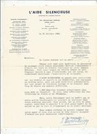 Publicité , Appel Aux Dons , L'AIDE SILENCIEUSE , Couronnée Par L'Académie Française , 1955 ,frais Fr 1.45 E - Advertising