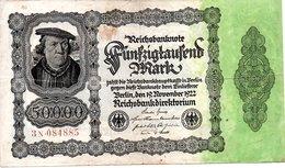 Reichbanknote  50000 Mark - [ 3] 1918-1933 : Repubblica  Di Weimar