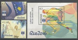 KOS 2016-10 Oly RIO, KOSOVO, 1 X 2V + S/S - Kosovo
