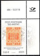 Estonia Estland Estonie 2018 (13) Centenary Of Estonia Postage Stamps (with Number Of Issue) - Estonia