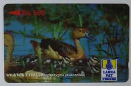 SRI LANKA - GPT - Specimen - Whistling Teal - Rs 500 - Sri Lanka (Ceylon)