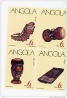 Angola--1991-Instruments De Musique-YT 820/2-feuillet***mnh-valeur 5.50 - Angola