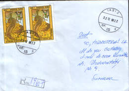 Romania - Registered Letter Circ.in 1998 - Folk Tales - Prâslea The Brave And The Golden Apples  - 2/scans - 1948-.... Républiques