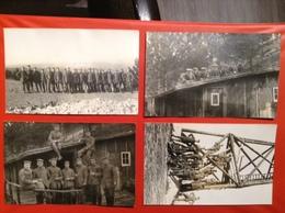 Fotos 4 AK WW1 Lager Wittelsbach Soldaten Mit Mütze Uniform Ca. 1917 - Uniforms