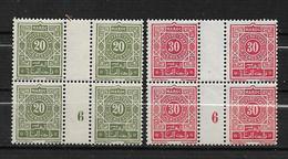 Colonie Maroc Taxes De 1918  N°39 Et 40 Bloc De 4 Millésime 6 Neufs **  Cote Des Timbres 88€ - Postage Due