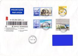Estonia Estland Estonie 2018 (09) Europe - Bridges - Used Stamps On Addressed Cover - Estonia