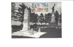 VALMY  CARTE PHOTO MONUMENTS COMMEMORATIFS DE 1821 ET 1892      TAMPONNEE 1971   ***    RARE   A  SAISIR **** - Otros Municipios