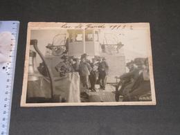 LAC DE GARDE - BATEAU GARDA - SUR LE PONT BERSAGLIERI Et PASSAGER - 1913 - Photo Originale - Guerra, Militari