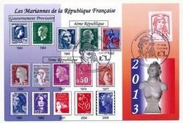 FRANCE => Carte Maximum - Marianne De La Jeunesse (20g) Premier Jour 13 La Ciotat - Cartes-Maximum